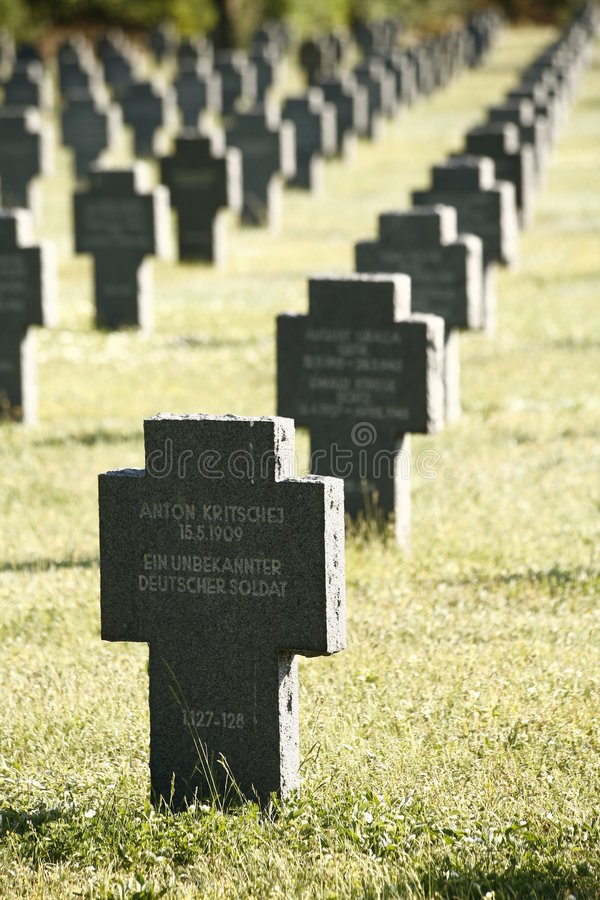 Download German Gravestones In A Row Stock Photo - Image: 5154358
