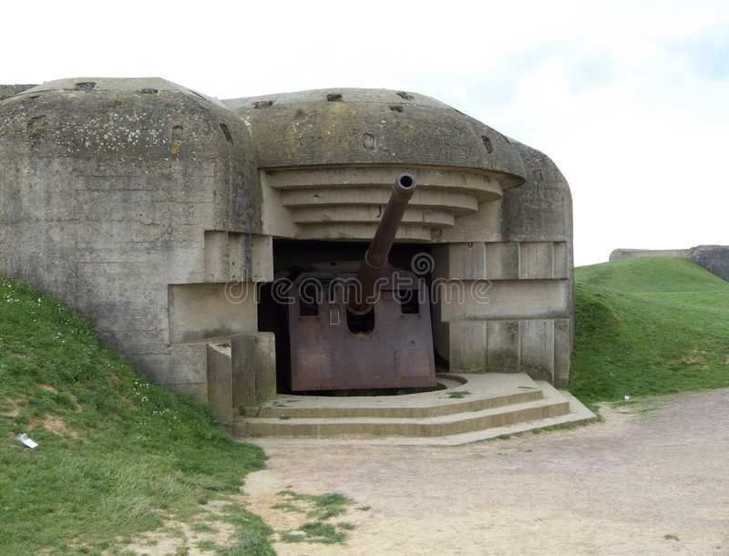 German Gun Battery royalty free stock images