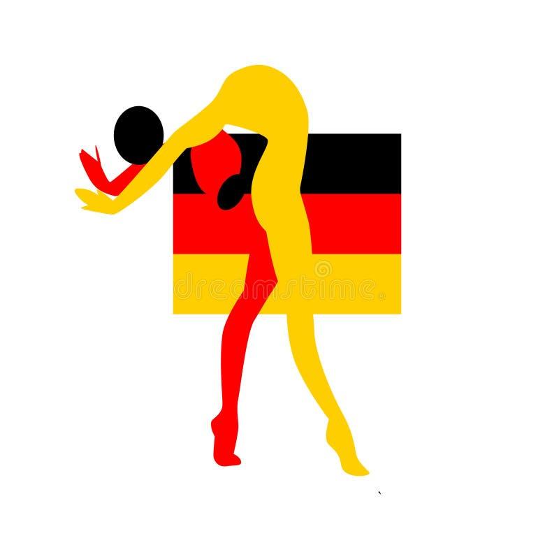 German gymnast athlete emblem stock illustration