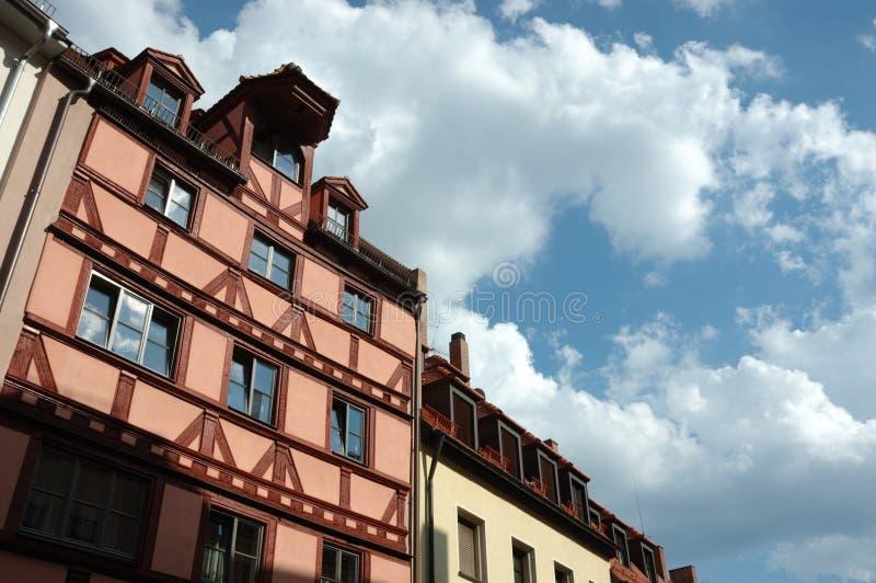 German Half-timbered Houses In Nuremberg Royalty Free Stock Image