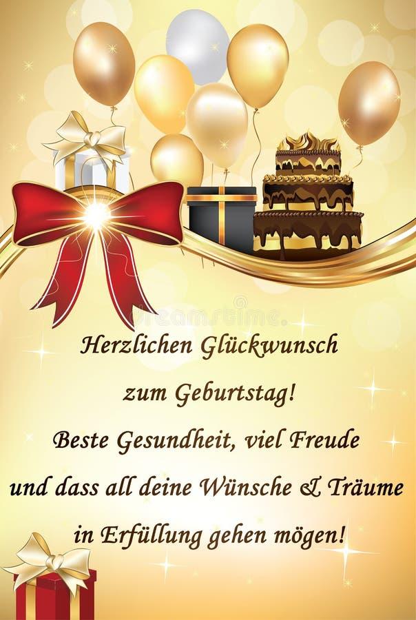 German happy birthday greeting card stock vector illustration of download german happy birthday greeting card stock vector illustration of german birthday 85930284 stopboris Gallery