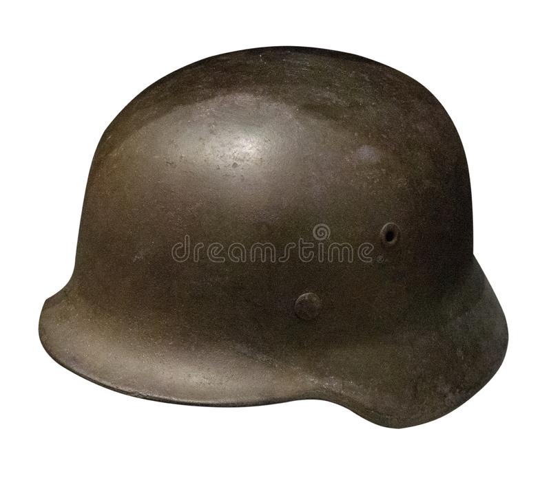 German helmet isolated on white background. German helmet of the Second World Wa royalty free stock images