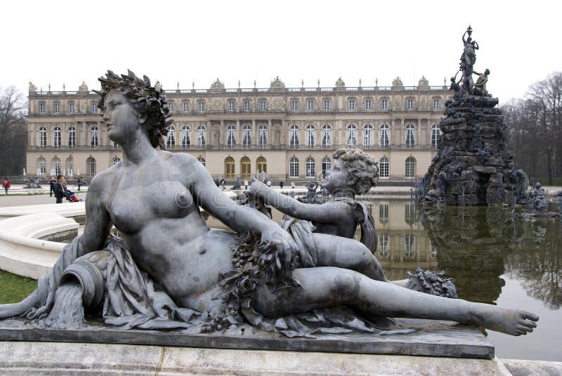 german herrenchiemsee pałacu zdjęcia royalty free