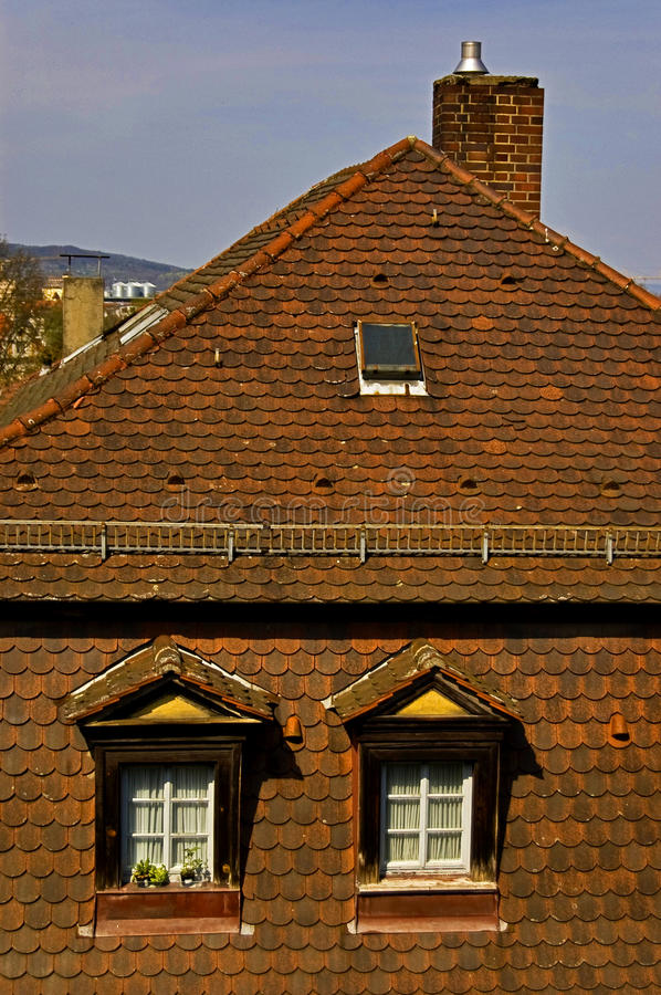German house. German architecture in Bamberg, Germany stock photography