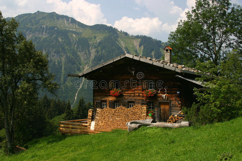 Download German House In The Mountains Stock Photo - Image of german, house: 3783020