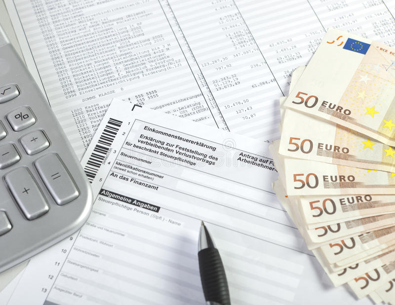 German Income Tax Stock Photos