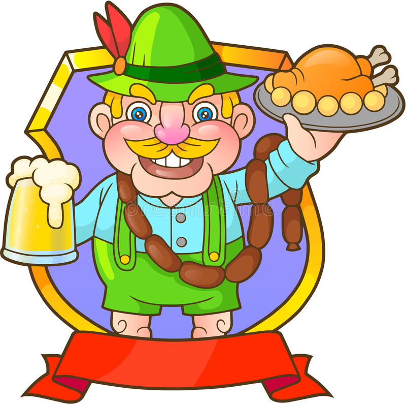 German invites you to dine. Funny German invites you to dine royalty free illustration