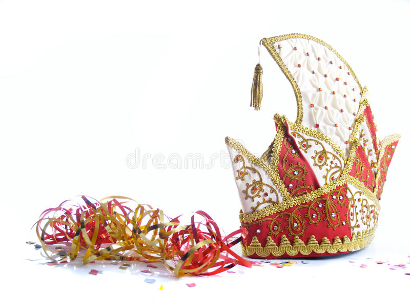 Download German Jesters Hat And Streamers Stock Image - Image of clothing, jewels: 12829633