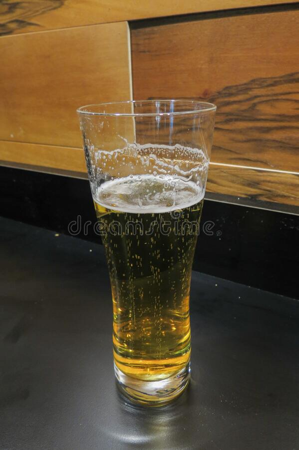 German lager beer glass stock images
