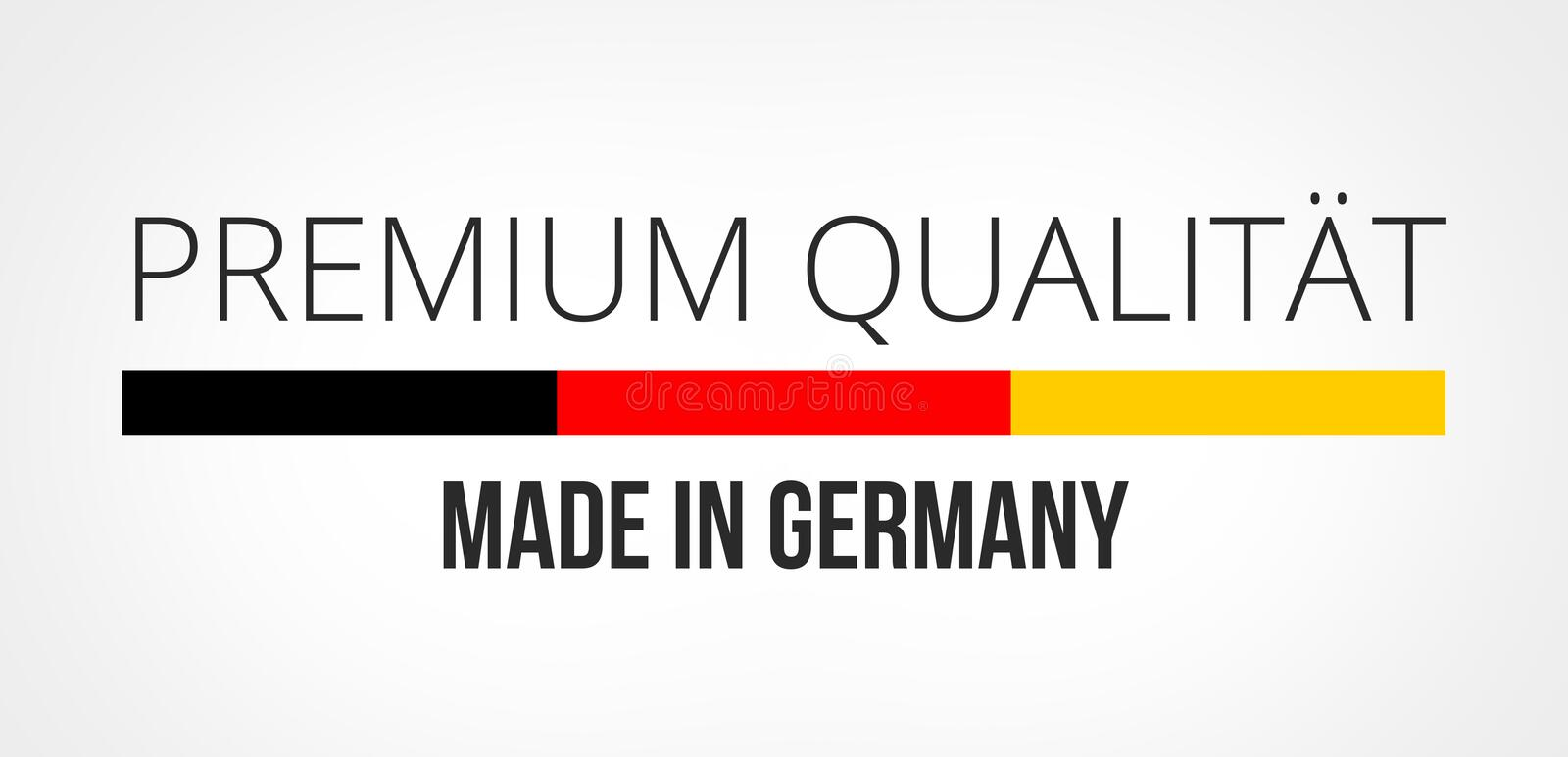 German Language For Premium Quality Made In Germany Stock