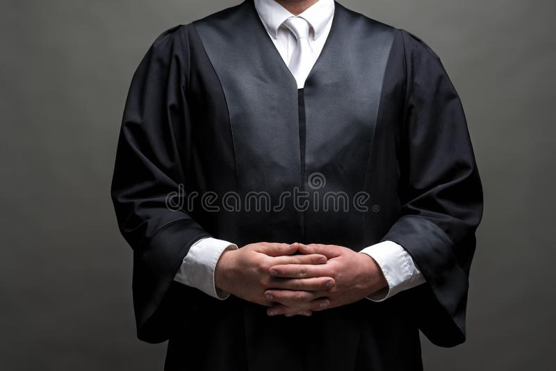 German lawyer with a robe royalty free stock photo