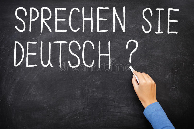 German Learning language stock image
