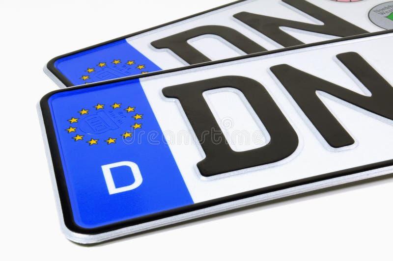 German license plates stock image