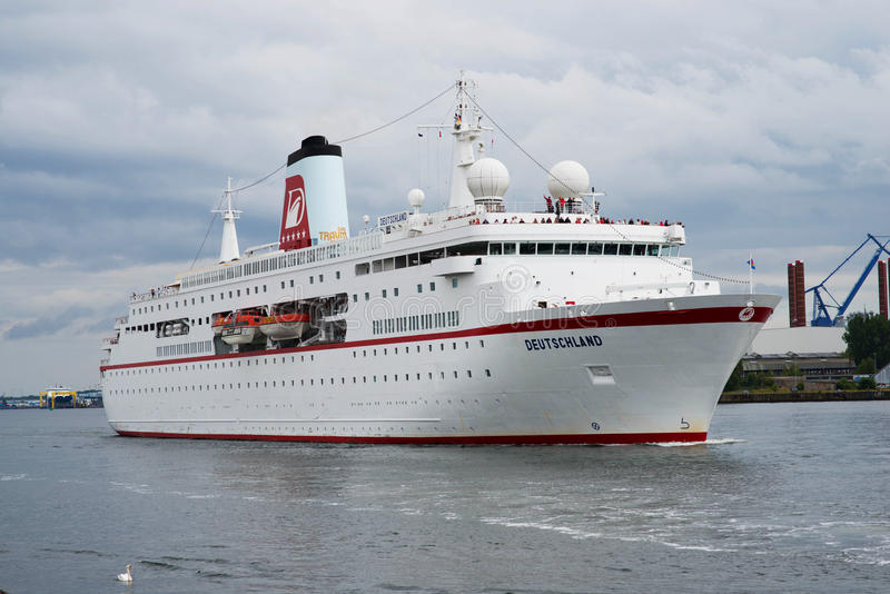 German luxury cruise ship Traumschiff royalty free stock photo