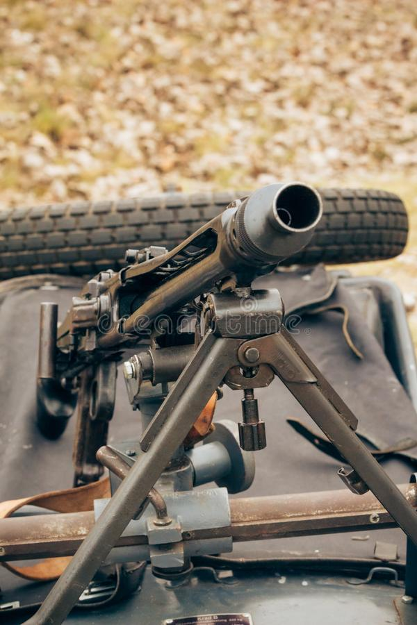 German machine gun of World War II royalty free stock photography