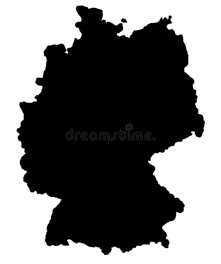 Download German map stock vector. Image of republik, german, vector - 5962356