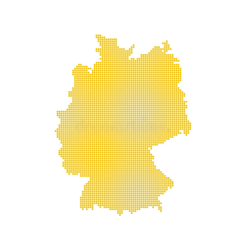 German map isolated. Dotted germany map yellow stock images