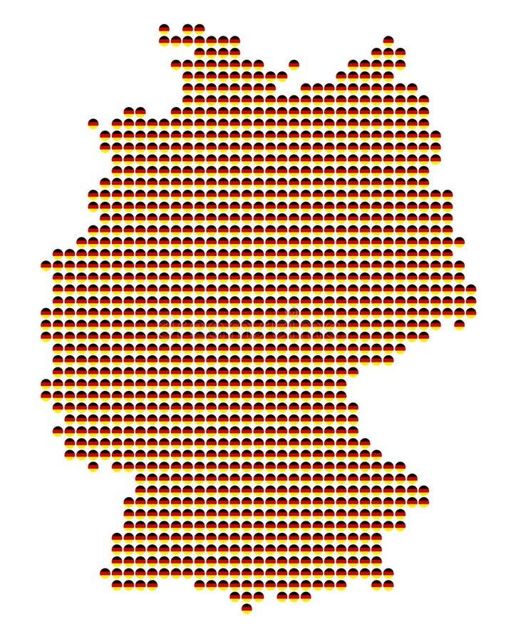 german mapa ilustracji