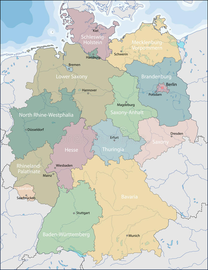 german mapa royalty ilustracja