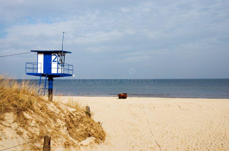 German mecklenburg plaży obraz royalty free