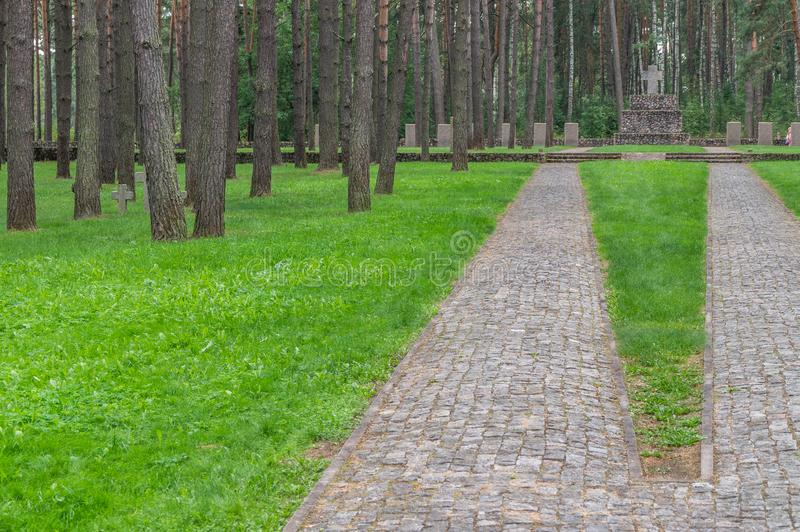 German memorial cemetery near Smolensk in Russia. royalty free stock photo