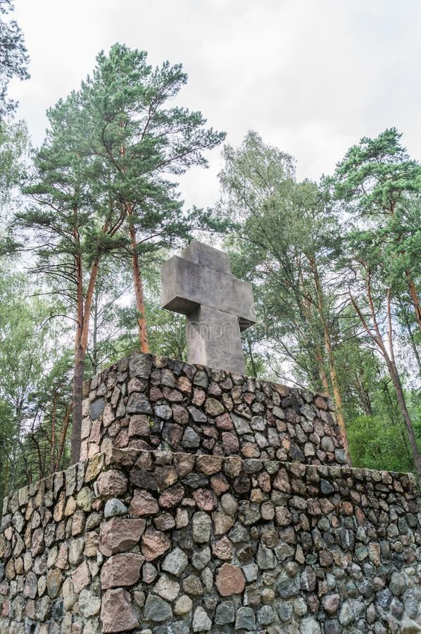 German memorial cemetery near Smolensk in Russia. stock images