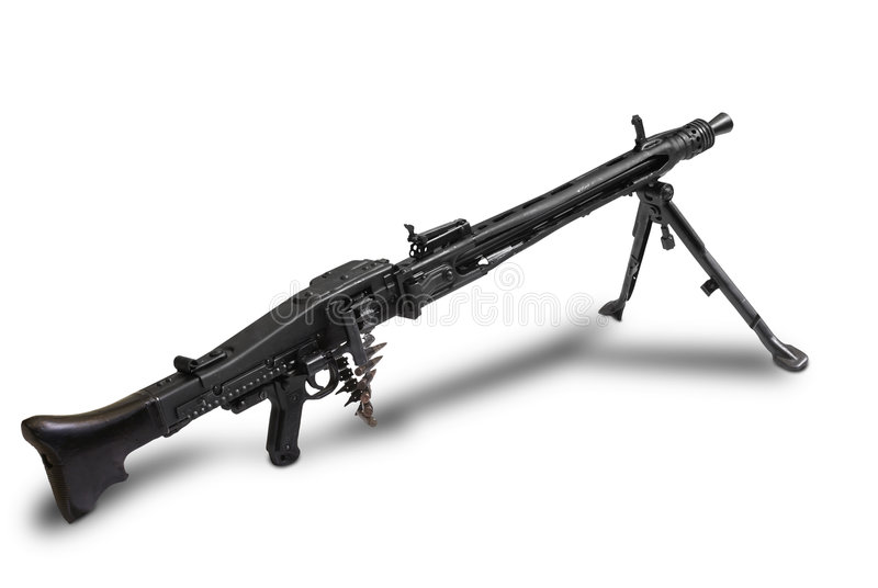 Maschinegewehr 42 Wallpaper: German MG-42 Royalty Free Stock Images