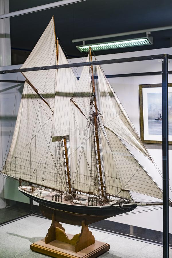 The German Museum of Science and Technology Achievement presents the history of shipbuilding and the development of marine science royalty free stock image