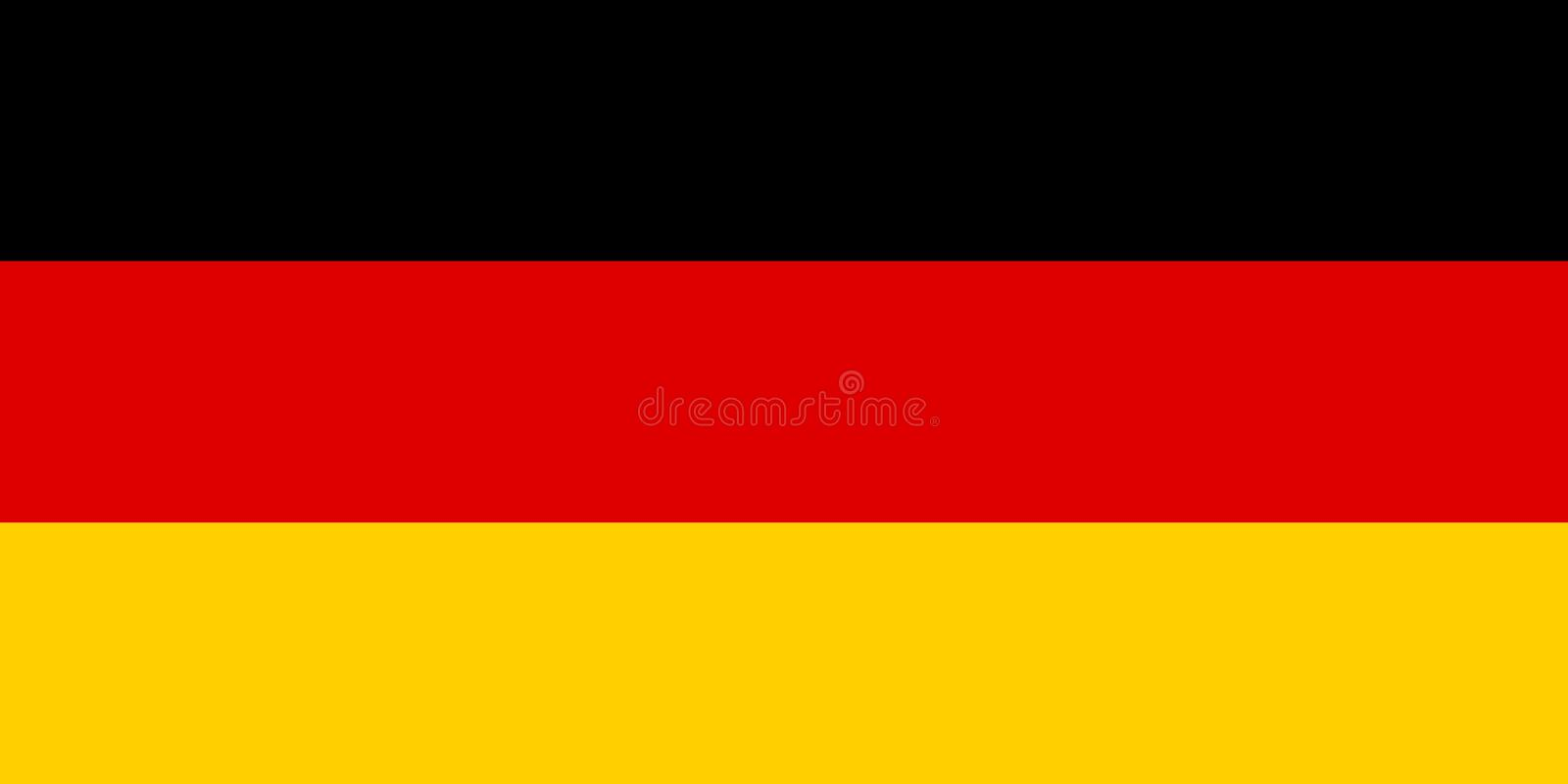 The German national flag is isolated in official colors.  stock illustration