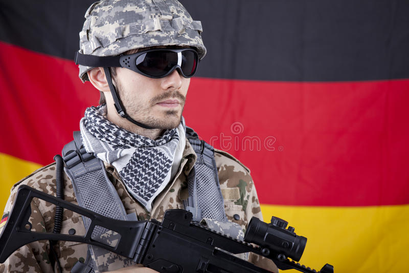 Download German NATO Soldier stock photo. Image of firearm, fighting - 25024934