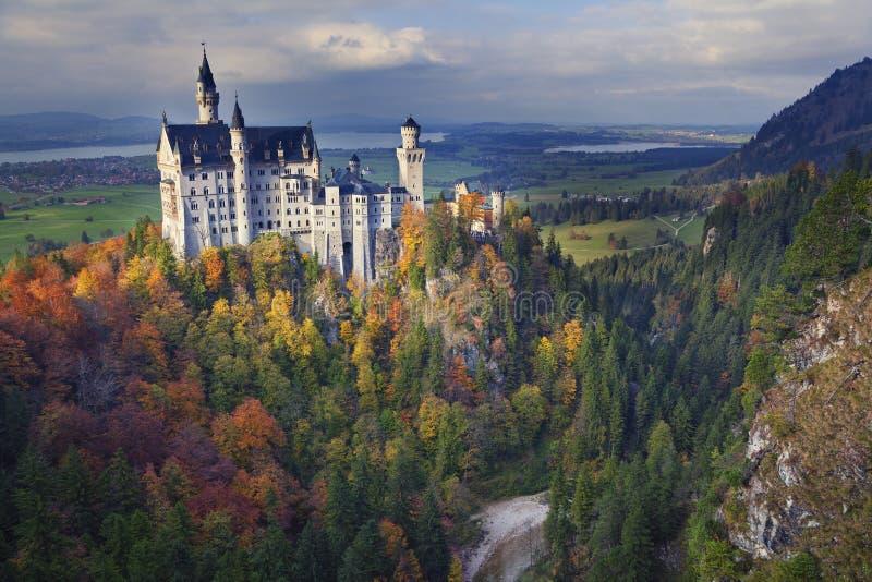 German Neuschwanstein zamek zdjęcie stock