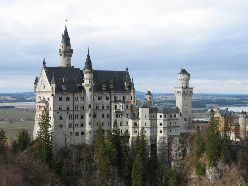 German neuschweinstein zamek obraz royalty free