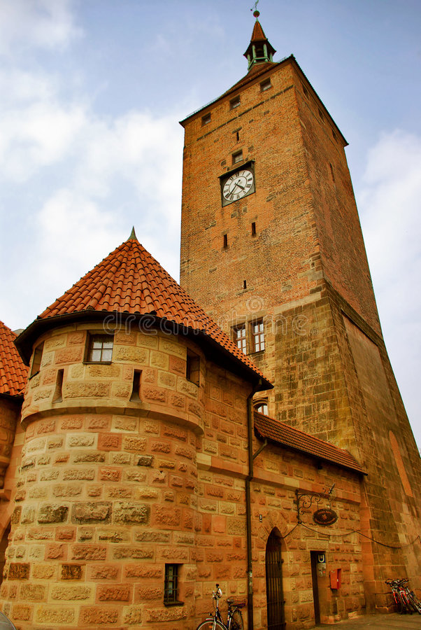german nurnberg turm white Weisser tower obrazy stock