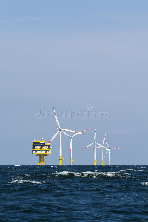 Free German Offshore Wind Farm Stock Photography - 44916332