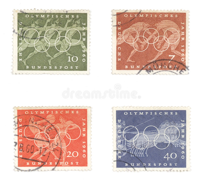 Download German Old Stamps - Olympic Games Royalty Free Stock Photo - Image: 1751355