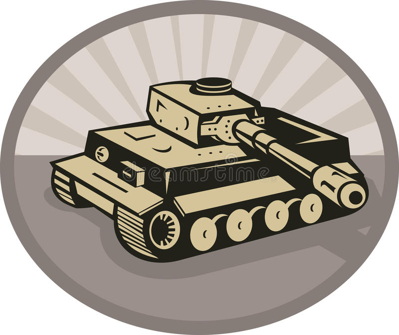 Download German panzer battle tank stock illustration. Image of military - 14861375