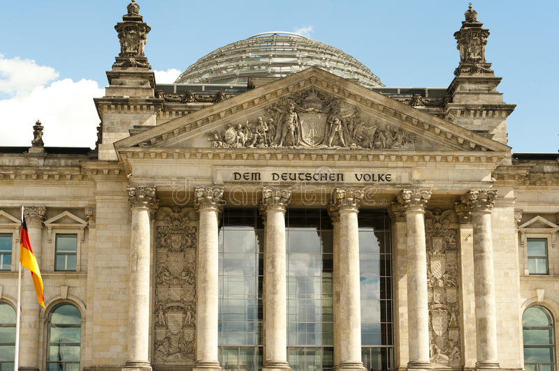Reichstag in Berlin, Germany, German house of parliament  stock image