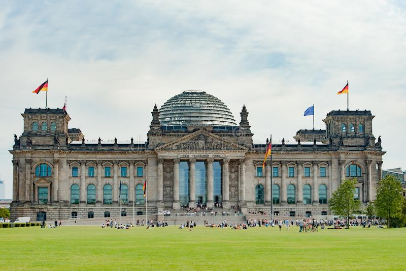 German Parliament Bundestag in Berlin, Germany stock photo