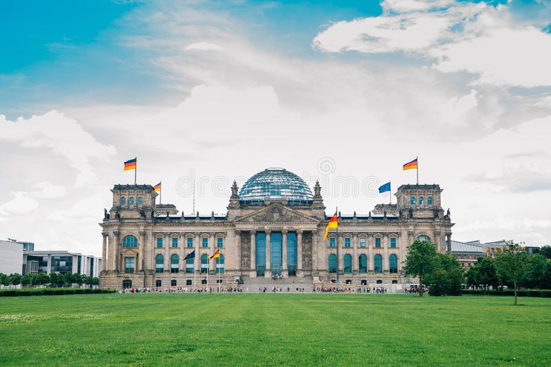 German parliament Reichstag building in Berlin, Germany stock photo
