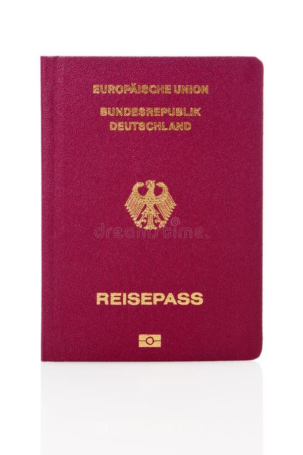 German passport isolated. New german biometric passport isolated on white background stock photography