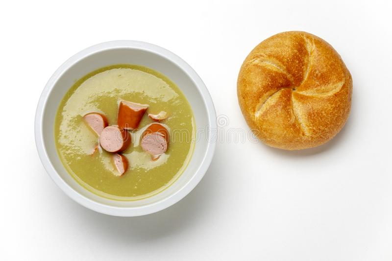 German pea soup royalty free stock image