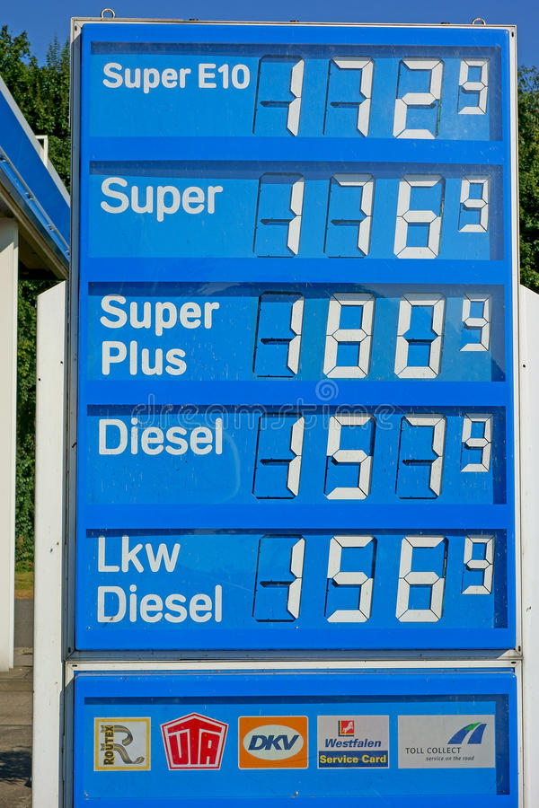 Download German Petrol Prices editorial photo. Image of record - 26397621