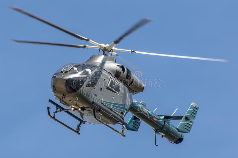German police helicopter royalty free stock photography