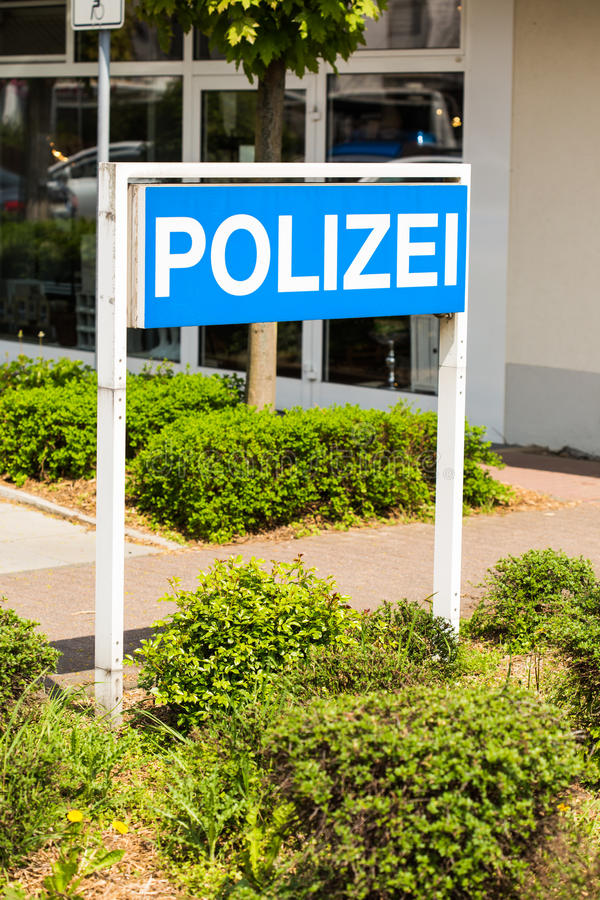 German Polizei (Police) sign stock image
