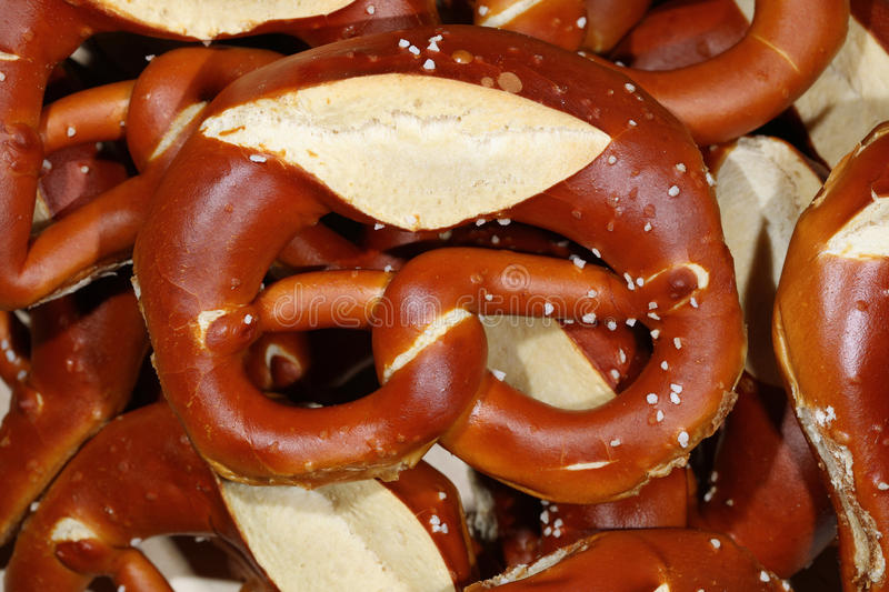 German Pretzel closeup royalty free stock photos