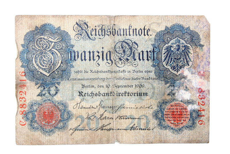German Reichsmark royalty free stock photo