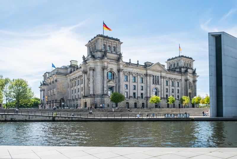 The German Reichtag building in Berlin stock photos