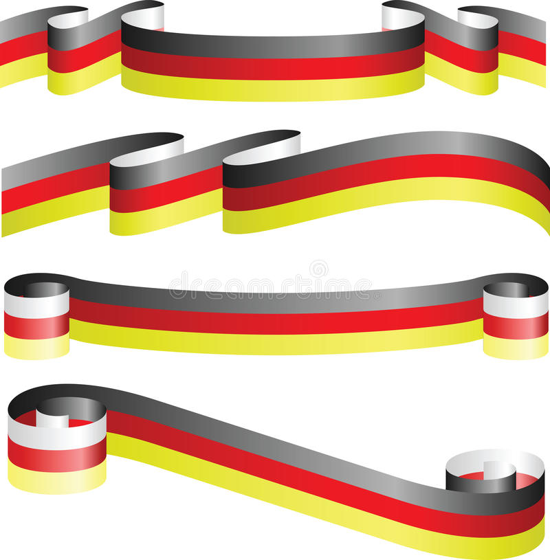 German ribbons isolated on white
