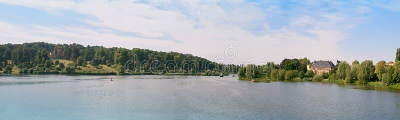 German river panorama