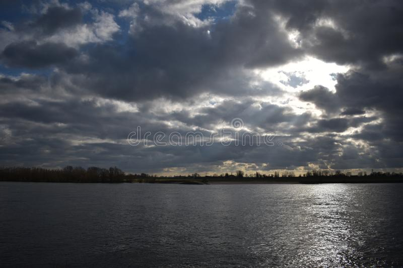 German river Rhine near Emmerich 5. The German river Rhine near the village of Emmerich royalty free stock photography